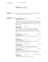 Resume Labor Worker Resume