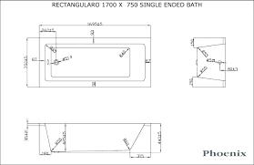 standard bathtub dimensions volume