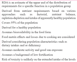 table 2 salient features of indian remended tary allowances rda