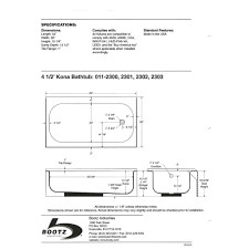 photo 1 of 8 excellent cool bathtub 64 bootz industries kona ft 4 foot tub shower exceptional 4 6