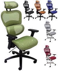 Elastic All Mesh Ergonomic Chair w Headrest