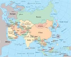political map of asia Map Of Asia Atlas asia and south pacific political map mexico map map of asia to label