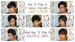 How To Make A Hair Style hair how to make a 27 pcs pixie wig with a lace closure youtube 2785 by wearticles.com
