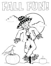 scarecrow coloring sheets pages color sheet thanksgiving page holiday free printable