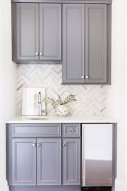 White Kitchen Hutch Cabinet Sparkly White Kitchen Herringbone The Ojays And Grey