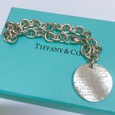 tiffany co 925 silver notes new york 5th avenue circle tag charm 1 of 5 tiffany