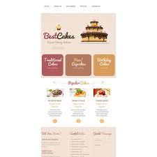 Cake Store Responsive Website Template 43645 Discounted