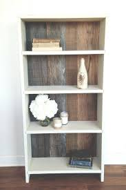 rustic reclaimed wood bookshelf makeover old laminate shelving with paint and pallets dream home decor white