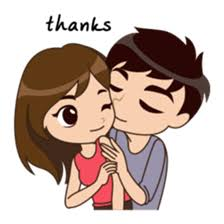 Cute Couple Png Cute Funny Lovely Couple Sticker For Those Who In Love In