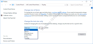 change text size system font size changer change font sizes in creators update 1703