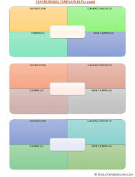 Frayer Model Template 6 Per Page Frayer Model Template Ultimate Cheat Sheet 60 Templates