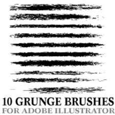 Grunge Illustrator Brushes Freevectors