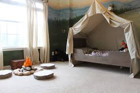 Toddler Tents For Beds Remodelaholic Camping Tent Bed In A Kids Woodland Bedroom