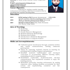 Teacher Resume Examples Education Sample Resumes Collection Of