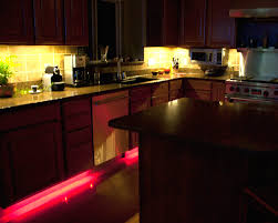 kitchen cabinet lighting ideas. Red Led Strip Lights Under Kitchen Cabinet For Lighting Ideas