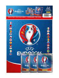UEFA EURO 2016 Sticker Album Hardcover + 3 Tüten (DE) - Cardport  Collectors' Shop