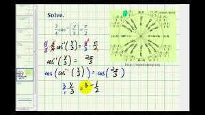 ex solve a trig equation with an inverse trig function