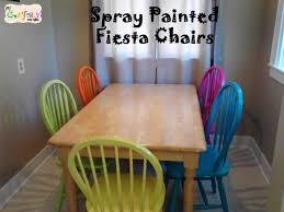 spray painted fiesta dining room table chairs