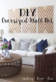 diy oversized wall art home decor