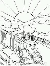 Thomas The Train Coloring Page Coloring Pages Pinterest Train