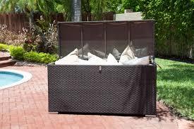 outdoor rattan garden storage box outdoor deck storage box outdoor storage table pool deck storage