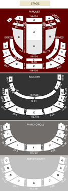 Academy Of Music Philadelphia Pa Seating Chart Stage