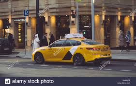 Moscow, Russia — May 27, 2019: Yandex Taxi car near in the center of Moscow  on Tverskaya street Stock Photo - Alamy