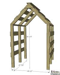 Small Picture Remodelaholic DIY House Garden Arbor