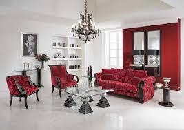 Natural Color Living Room Living Room Elegant Red White Living Room Interior Design In