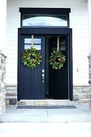 rustic double entry doors black front door impressive design with regard to ideas fiberglass sidelights doo