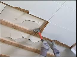 how to repair ceiling drywall. Perfect Drywall Pull Old Tiles Loose After Removing Crown Molding With How To Repair Ceiling Drywall R