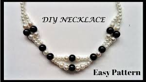 Beaded Necklace Patterns Awesome Pearl Necklace TutorialElegant Beaded Necklace Easy Jewelry