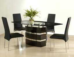 Modern Round Glass Dining Table Impressive Round Glass And Wood