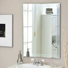 Bathroom Frameless Mirrors Large Wall Mirror Archives Homepsycho