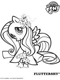 Free Online My Little Pony Fluttershy Colouring Page Drawings