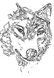 Wolf Hard Coloring Pages Print Coloring