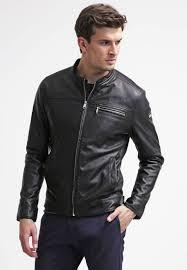 guess biker faux leather jacket jet black men clothing jackets purses guess elegant factory