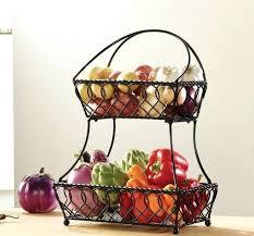 fruit basket storage fruit basket tier bread metal kitchen storage  decorative bins black fruit storage basket . fruit basket ...