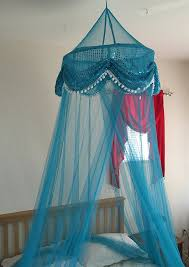 Amazon.com: OctoRose  Sequins Bed Canopy Mosquito Net for All Size Bed,  Dressing Room, Out Door Events (Teal Blue): Home & Kitchen