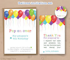 Balloon Birthday Invitations 28 Beautiful Kids Birthday Invitations Psd Eps Ai Word Free