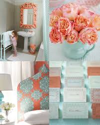 Love the coral flowers, and the light blue vase for the tables to tie the