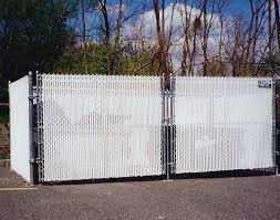 chain link fence with white slats design interior home decor