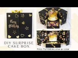 surprise cake box cake box with