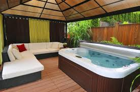 If you are looking for fully enclosed gazebo plans with hot tubs that will  provide you shelter from the elements and also provide you maximum privacy
