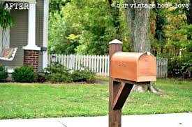 mailbox post ideas. Wood Mailbox Post Ideas Copper Painted From Our  Vintage Home Wooden