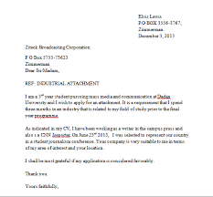 Sample Industrial Attachment Letter And How To Write An Industrial