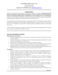 Free Experienced Chartered Accountant Resume Sample Templates At