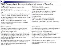 Pepsico Structure Chart Pepsi Vanilla The Organizational Structure Of Pepsico