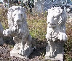 concrete lion statues garden designs