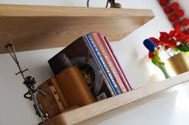 oak floating shelves lightweight wall shelves3